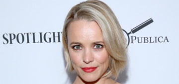 Rachel McAdams went platinum blonde: cute or doesn't suit her?