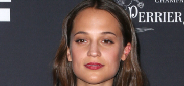 Alicia Vikander in Erdem at the WIF, Film is GREAT events: cute or cloying?