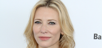 Cate Blanchett in peacocky Gucci at the Spirit Awards: cute or crazy?