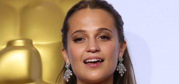 Alicia Vikander in buttery Louis Vuitton at the Oscars: tragic or lovely?
