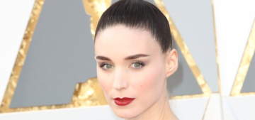 Rooney Mara in pale Givenchy at the Oscars: goth-bridal or stunning?