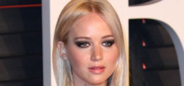 Jennifer Lawrence in Alexander Wang at the VF Oscar party: dated & tragic?