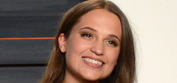 Was Alicia Vikander's Oscar-party look much better than her Oscar look?
