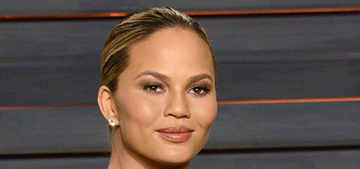 Chrissy Teigen in Talbot Runhof at the VF Oscar party: Morticia or marvelous?