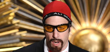 Sacha Baron Cohen agreed to present as himself at Oscars, did Ali G instead