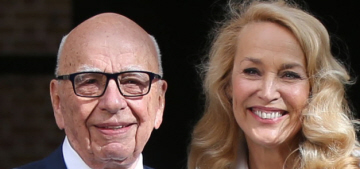 Jerry Hall & Rupert Murdoch married in a civil ceremony in London today