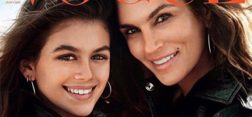 Cindy Crawford & 14-year-old Kaia Gerber cover Vogue Paris: lovely?
