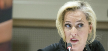 Gillian Anderson: 'There are between 20-30 million slaves in the world today'