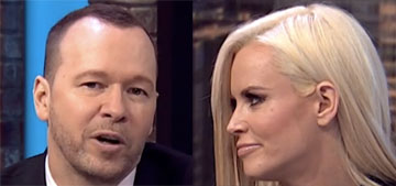 Donnie Wahlberg on Jenny McCarthy: 'She has the face of an angel.'