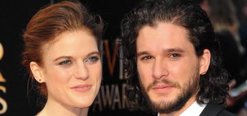 Kit Harington & Rose Leslie made their couple debut at the Olivier Awards