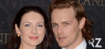 Caitriona Balfe & Sam Heughan at Outlander's Season 2 premiere: hot?