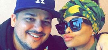 Blac Chyna & Rob Kardashian are engaged now & her diamond is huge