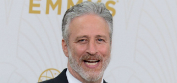 Jon Stewart gives his pigs belly rubs at his Bufflehead Farm
