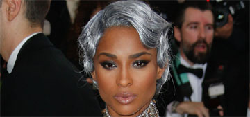 Ciara, with silver hair in H&M at the Met Gala: impressive or weird?