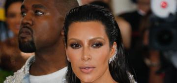 Kim Kardashian in silver Balmain at the Met Gala: surprisingly great?