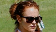 Lindsay Lohan parades her bones around in a bikini