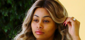 Blac Chyna is pregnant & pissed off at the Kardashians for leaking that info