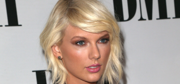Taylor Swift in Monique Lhuillier at the BMI Pop Awards: '90s fug or '90s fab?