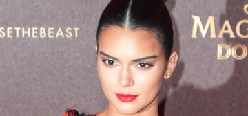 Kendall Jenner in Versace at a Cannes event: tacky or interesting?