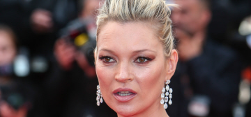 Kate Moss in a red, vintage Halston toga in Cannes: stunning or tragic?