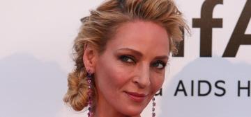 Uma Thurman in pink Schiaparelli at the Cannes amfAR gala: meh or amazing?
