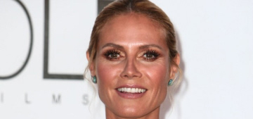 Heidi Klum in yellow Versace at the Cannes amFAR gala: surprisingly pretty?