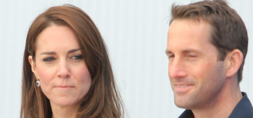 Duchess Kate repeats a nautical McQueen, flirts with Sir Ben Ainslie