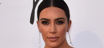 Kim Kardashian in cream Vivienne Westwood in Rome: lovely or tacky?
