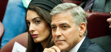 Was Amal Clooney's Versace dress too short for a trip to the Vatican?