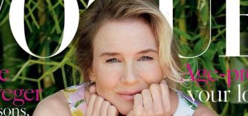 Renee Zellweger covers Vogue UK, talks Bridget-weight gain & anonymity
