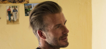 David Beckham visited Africa, as part of his work with children with HIV