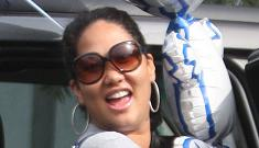 Kimora Lee Simmons & Djimon Hounsou throw themselves a baby shower