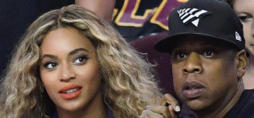 Beyonce & Jay-Z were loved-up & affectionate at Game 6 of the NBA Finals