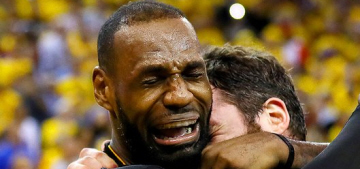 """""""LeBron James ugly-cried tears of joy when the Cavs won Game 7″ links"""