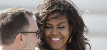 Michelle Obama in a $1800 Proenza Schouler dress in Madrid: lovely or boring?