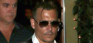 How many necklaces does Johnny Depp need to simply go out to dinner?