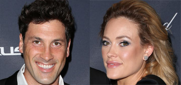 Maksim Chmerkovskiy & Peta Murgatroyd are soon to be dancing with the stork