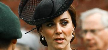 Duchess Kate wears a bespoke lace dress to Battle of Somme centenary
