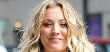 Kaley Cuoco apologizes for the Instagram of her dog sitting on an American flag