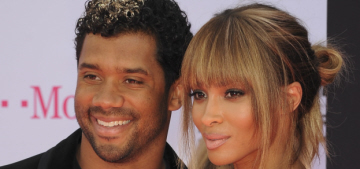 Ciara & Russell Wilson are married, the bride wore a custom Roberto Cavalli gown