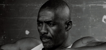 Idris Elba poses shirtless for Interview Mag, worries about creative 'burn out'
