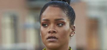 """Does anyone enjoy Rihanna's Little House on the Prairie dress?"" links"