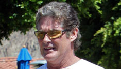 Did David Hasselhoff get admitted to the hospital for alcohol poisoning?