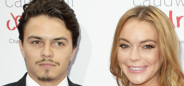 Lindsay Lohan had a cracked-out hissy fit, threw Egor's phone into the sea