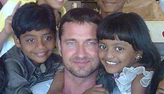 Gerard Butler treats 'Slumdog Millionaire' kids to a day out in India