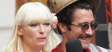 Jake Gyllenhaal & Tilda Swinton are unrecognizable as they film 'Okja' in NY