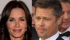 Courteney Cox runs into Brad Pitt, doesn't ignore him
