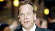 Kiefer Sutherland headbutts designer