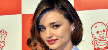 How does Miranda Kerr maintain a pool & a waterfall in the California drought?