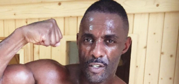 Idris Elba is sweaty & shirtless, for your pleasure: is he the best person ever?